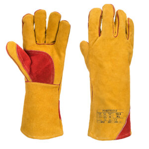 Wzmocniona zimowa rękawica spawalnicza