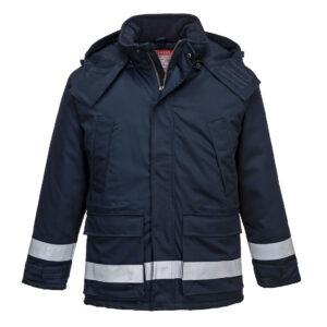Trudnopalna i antystatyczna kurtka zimowa