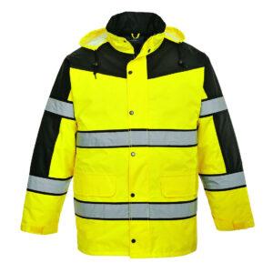 Dwukolorowa klasyczna kurtka ostrzegawcza