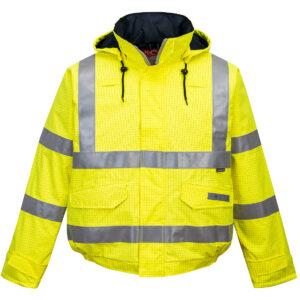Trudnopalna kurtka ostrzegawcza i antystatyczna Bomber Bizflame Rain